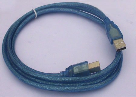 supplied by manufacture 1.8M USB printer cable  Transparent blue  USB AM to BM Cable