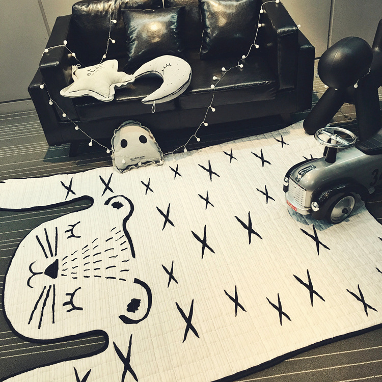 130 185cm Soft Baby Rugs and Carpets Kids Carpet Floor Cotton Mat Living Room Bedroom Home