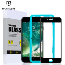 SmartDevil screen protective film for iphone 7 7 Plus 8 8 Plus 6 6S 6sPlus tempered glass Front membrane Soft edge full coverage membrane keypad film for 2711p k10c4a8 panelview plus 6 1000