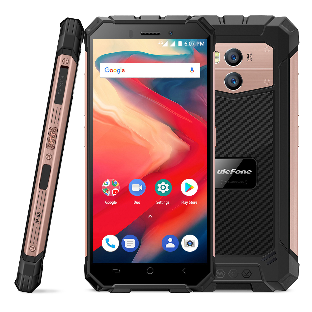 """Ulefone Armor X2 IP68 Waterproof Mobile Phone Android 8.1 Cellphone 5.5"""" HD Quad Core 2GB+16GB NFC Face ID 5500mAh Smartphone"""