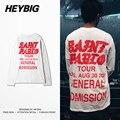 San pablo versión botín HEYBIG kanye west Camiseta 2016 de cuello redondo Camisetas hombres Hip hop Rapper moda caliente Camisas de Algodón Tops tamaño CN