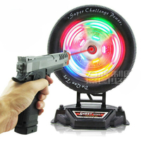 Children Electric Infrared Laser Shooting Training Gun Running Tire With Light Music Reaction Speed Party Time Tools