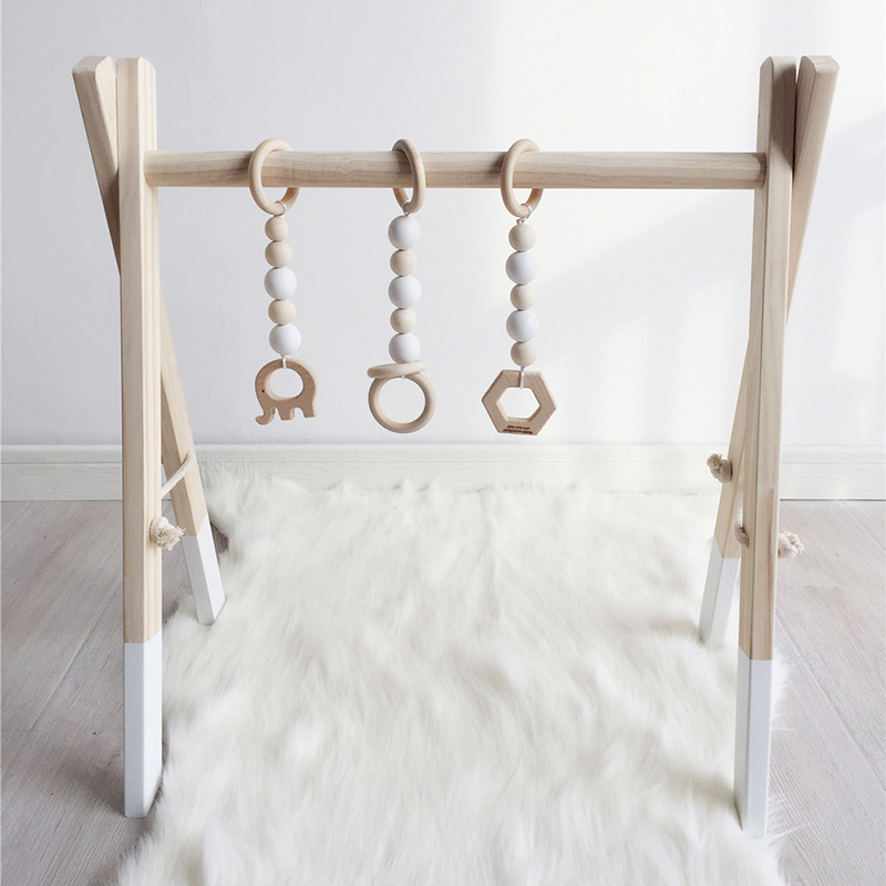 New Wooden Baby Activity Gym Play Nursery Decor Sensory Toy Accessories Kid s Room Decor Photography