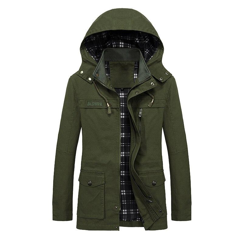 2018 Frühling Herbst Neue Graben Mantel Männer Military Windjacke Reine Baumwolle Plus Größe Männer Mantel Gewaschen Jacke Oberbekleidung