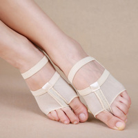 Retail 1 Pair Heel Protector Professional Ballet Dance Socks Belly Dancing Foot Thong Protection Toe Pads