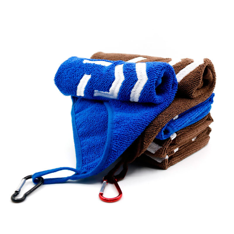 1PC Microfiber Fishing Bait Towel Hiking Fishing Towel With Carabiner Clip Thickening Non-stick Absorbent Towel High Quality