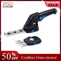 Prostormer Electric Cordless Household Trimmer Hedge Trimmer 2 in 1 Disassembly 3.6V Rechargeable Weeding Shear Pruning Mower