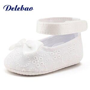 Newborn White Christening Shoe