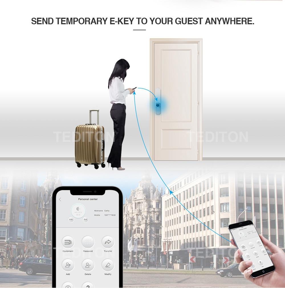 HTB1WtSJc56guuRjy0Fmq6y0DXXa8 L5SR-Plus WELOCK Bluetooth APP Smart Lock Electronic Cylinder Outdoor Waterproof Keyless Biometric Fingerprint Scanner door lock