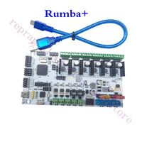 Only here, Rumba+ MotherBoard Upgrade Rumba Control Board for 3D Printer Triple Extruder Multi Color 3 In 1 Out Diamond Hotend