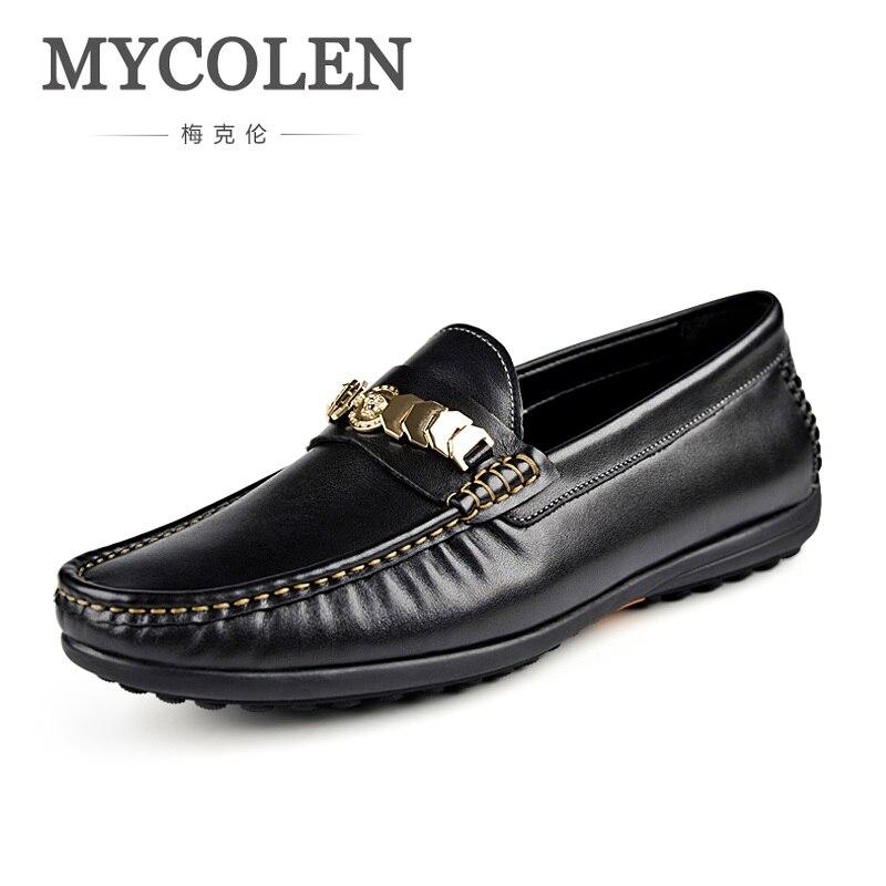 MYCOLEN Spring/Autumn Men Luxury Brand Leather Shoes Designer Popular Shoes Black Gentleman Breathable Man Shoes Sapato