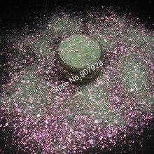 Блестки для ногтей разного размера Galaxy Effect Powder белый с красным светом Блестки для акриловых ногтей, Гель-лак для ногтей и макияж