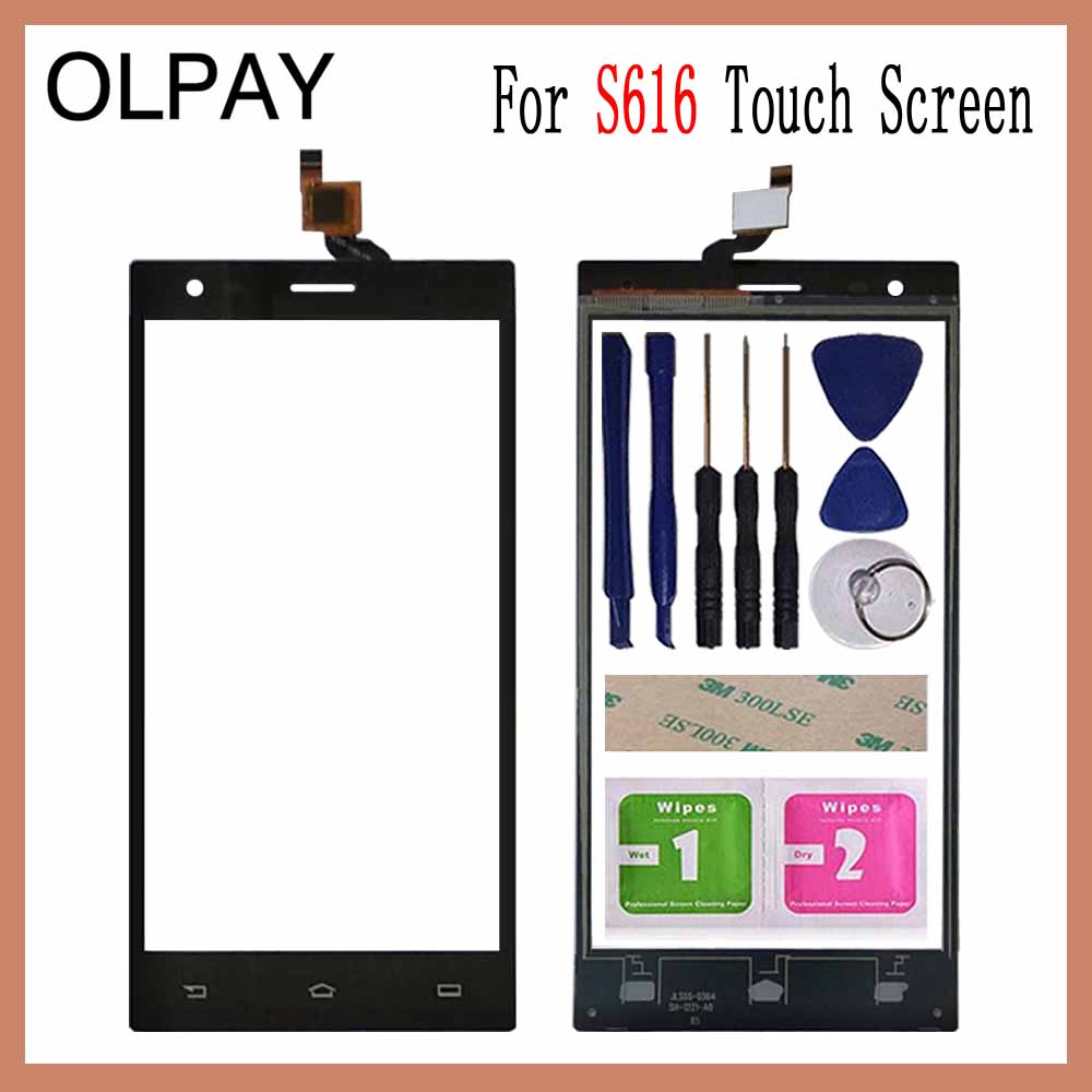 OLPAY 5.5 Mobile Touch Glass For Philips S616 S 616 Touch Screen Digitizer Front Glass Lens Sensor Tools Free Adhesive+WipesOLPAY 5.5 Mobile Touch Glass For Philips S616 S 616 Touch Screen Digitizer Front Glass Lens Sensor Tools Free Adhesive+Wipes