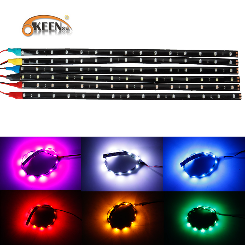 Waterproof Car Auto Decorative Flexible Led Light Strip 12v 30cm 15smd Car Led Daytime Running Light Car Led Strip Light Drl Automobiles & Motorcycles