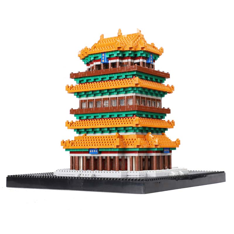 Balody 16078 Mini Blocks Chinese Style Architecture Guanque Tower Building Nano Blocks educational Bricks for Kids Toy Xmas GiftBalody 16078 Mini Blocks Chinese Style Architecture Guanque Tower Building Nano Blocks educational Bricks for Kids Toy Xmas Gift