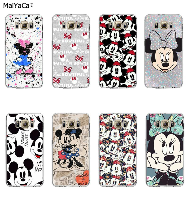 mickey minnie cartoon soft silicone transparent phone case for samsung s5 s6 edge plus s7 s7edge s8 s9 plus note 9