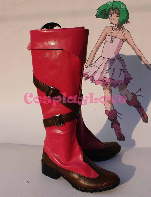 Custom-made Macross Frontier Ranka Lee/Ranka Cosplay Shoes Boots Hand Made  For Halloween