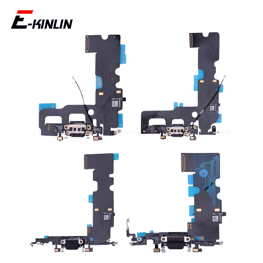 New Charger Plug USB Dock <font><b>Connector</b></font> Charging Port Flex Cable For <font><b>iPhone</b></font> 7 <font><b>8</b></font> Plus X With HeadPhone Jack RePair Parts image