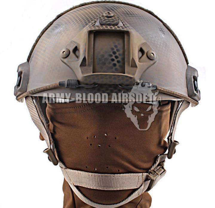 Seal Customized Version Of FAST Ballistic Helmet Quick Reaction Tactical Helmet (US Seals Plate)