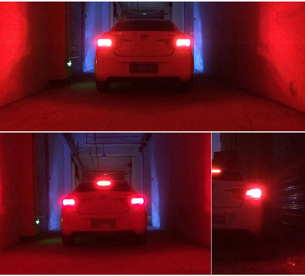 WTS 4pcs 1156 BA15S 66SMD P21W LED R5W Bulbs Car Driving Turn Signal Lights tail Backup Lamp Reverse Parking 6000K White Red10