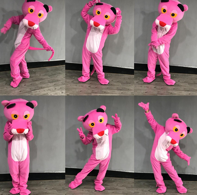 New Pink Panther Mascot Adult Costume Leopard Fancy Carnival For School Anime cosplay halloween christmas birthday
