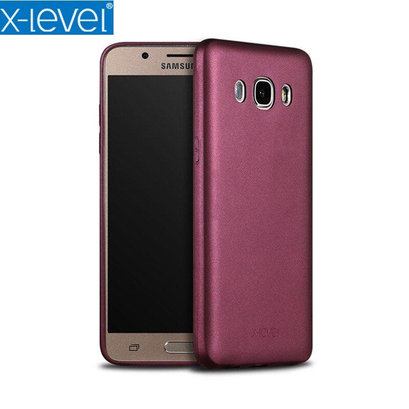 J310 J510 J710 X-Level Guardian Soft Matte TPU Silicone Phone Case for Samsung J310 J510 J710 J3 J5(2016) Utral thin Back Cover