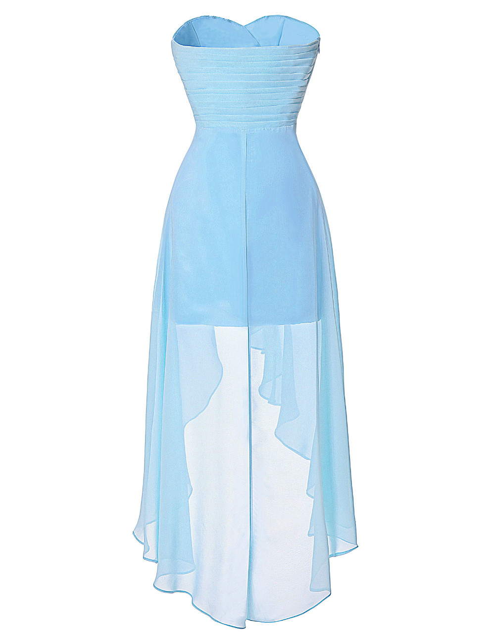 High Low Bridesmaid Dress 2017 Short Front Long Back Prom Gown Strapless Bead Sequin Pink Turquoise Bridesmaid Dress Grace Karin 14