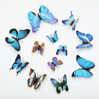 Simulation of butterflies New 12pcs/pack 3D Butterfly Wall Stickers Butterflies Decal Art DIY Decorations Horticultural decal
