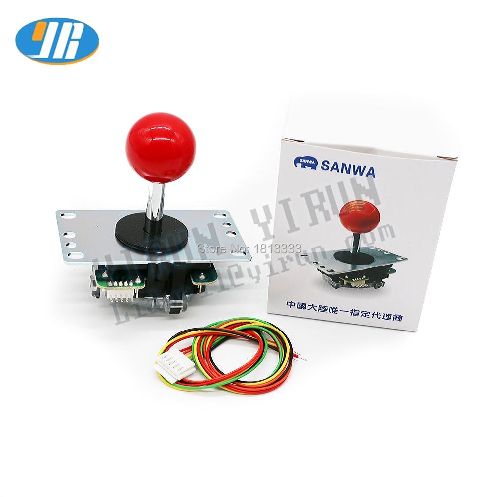 Оригинальный японский джойстик Sanwa JLF TP 8YT файтинг качалка с Topball и 5-контактным проводом для Jamma аркадных игр DIY часть