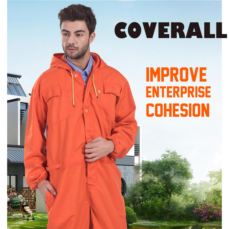 Mens Worker Repairman Machine Auto Repair Mechanics Miner Collier High Quality Orange Coveralls Work Clothing Overalls FREE POST