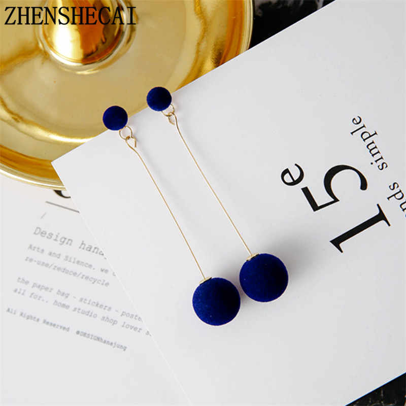 2018 Fashion drop earrings for women imitation pearl long tassel earring pendientes popular ear jewelry party wedding gift