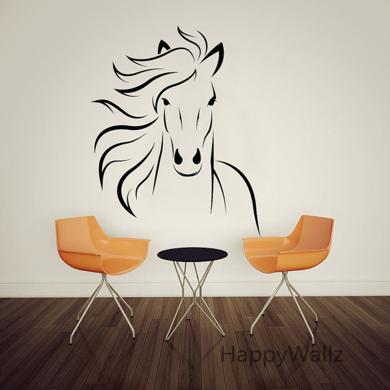 New Horse Wall Stickers Modern Horse Wall Decal DIY Decorative Wall  FP43