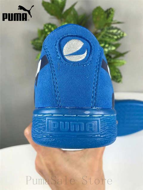 the best attitude 5146f 205c0 New Arrival Puma Suede Classic X Pepsi Mens Blue Suede Lace Up Sneakers  366332-02-01 Badminton Shoes Size EUR39-44