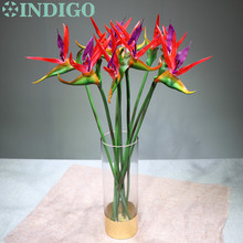 9pcs/Lot Red Bird Of Paradise Plastic Real Touch Flower Free Shipping Waterproof Decorative Artificial Wedding Party