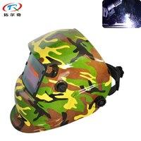 Army Water Transfer Printing Auto Darkening Welding Helmet Tig Electric Mask Arc Welder Cap Welding Mask TRQ HD61 2233DE