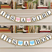 2.4m Paper Letter It's A Boy/Girl Baby Shower Banner