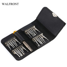 WALFRONT 25 in 1 Precision Screwdriver Set Electric Repair Tools Kit For Phone Computer Torx/Cross/Flat/Pointed Screw Drivers