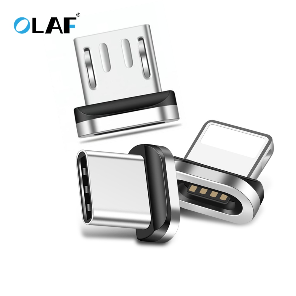OLAF Metall Magnetische Kabel stecker Typ C Micro USB C Schnelle Ladegerät Adapter Telefon <font><b>Microusb</b></font> Typ-C Magnet Lade stecker Für Iphone image