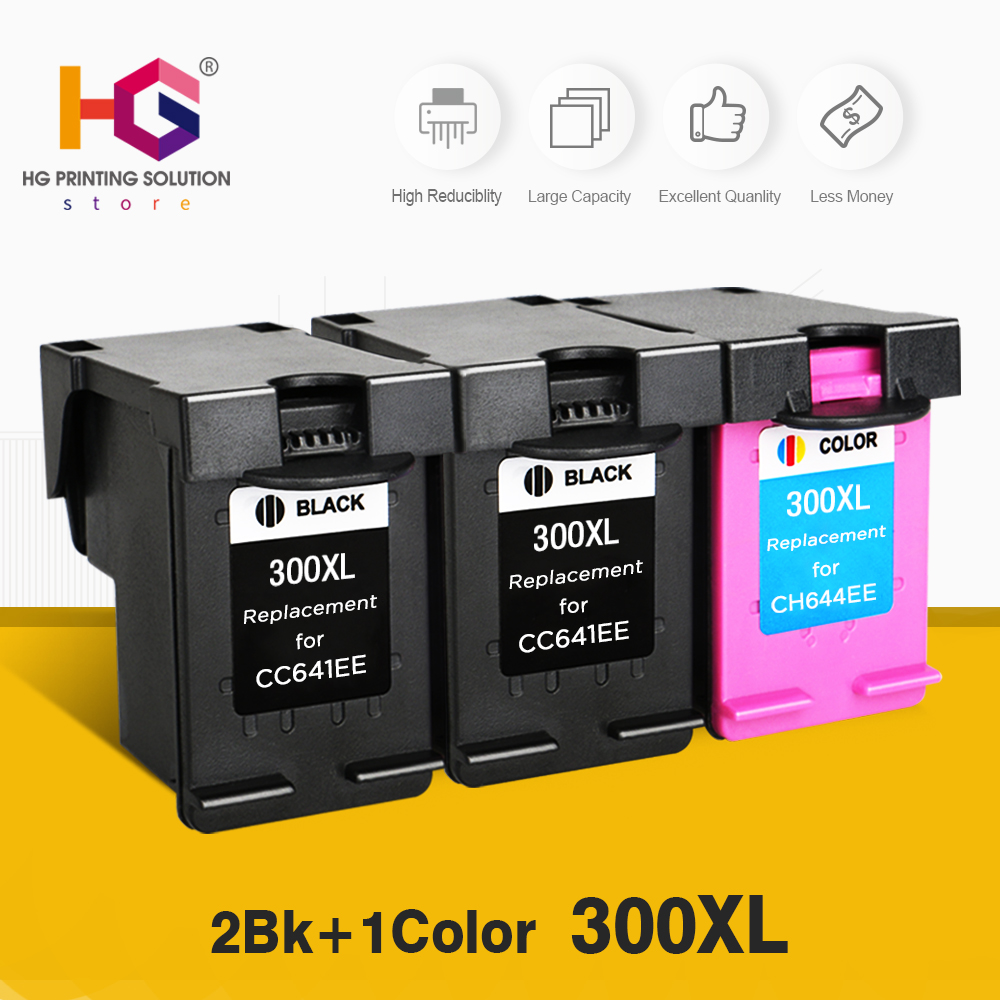 300XL Remanufactured Ink Cartridges Replacement for HP 300 for Deskjet D1660 D2560 D2660 D5560 F2420 F2480 F2492 F4210