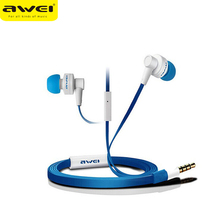Awei ES700i 3.5mm Jack Wired Earphone In-ear Super Bass Headset with Mic Support Hands-free Call Fone De Ouvido for Mobile Phone