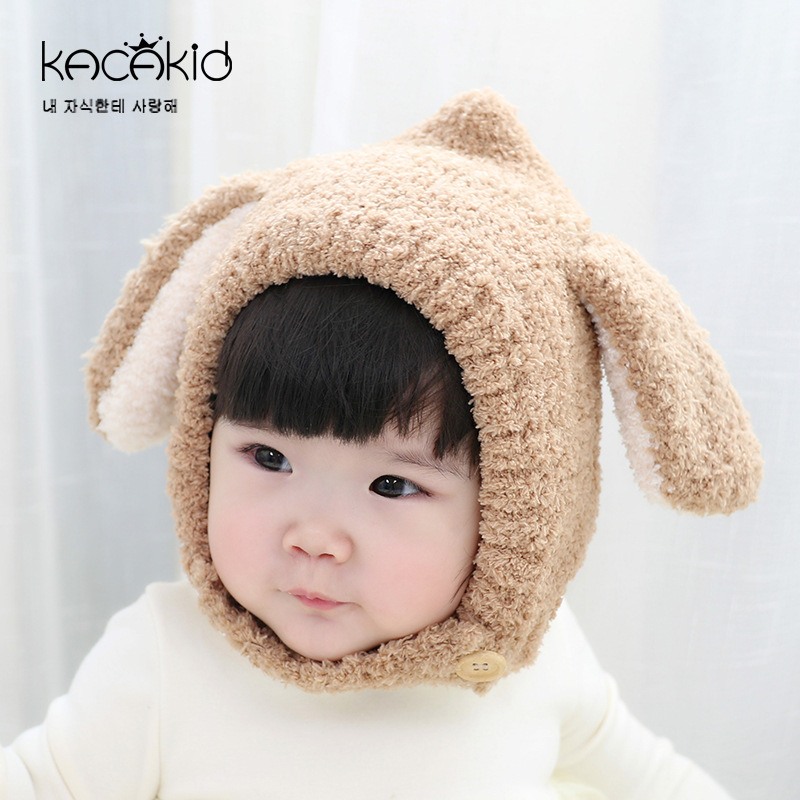 Baby Rabbit Ears Thicken Warm Hat Infants Toddler Winter Baby Hat Beanies Cap with Hooded Earflap Children Baby Winter Hats 1-5T