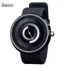 2016 hombres reloj Enmex regalo hombres mujeres del diseño creativo fuego negro respirar libremente correa deportes moda casual relojes de cuarzo