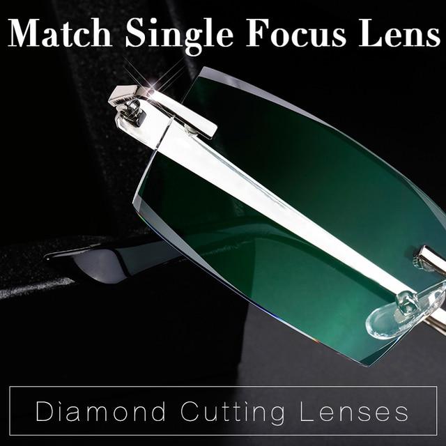 Extra fee for Private Custom Rimless Glasses Diamond Cutting Lens Match Single Focus Lens For Myopia /Hyperopia Reading Glasses