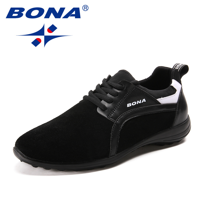 BONA New Fashion Style Men Casual Shoes Lace Up Men Loafers UP Outsole Men Flats Comfortable Male Shoes Light Free Shipping