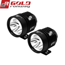 GOLDRUNWAY 30IX Universal Motorcycle bicycle Headlight fog lights lamp Auxiliary driving Motorbike High Brightness white 6000k