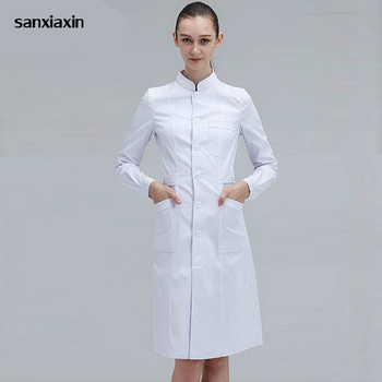 Mujer Medico Bata De Laboratorio Medico De Hospital Doctor Slim Multicolor Uniforme De Enfermera Medico Vestido De Spa Uniforme Blanco Abrigo