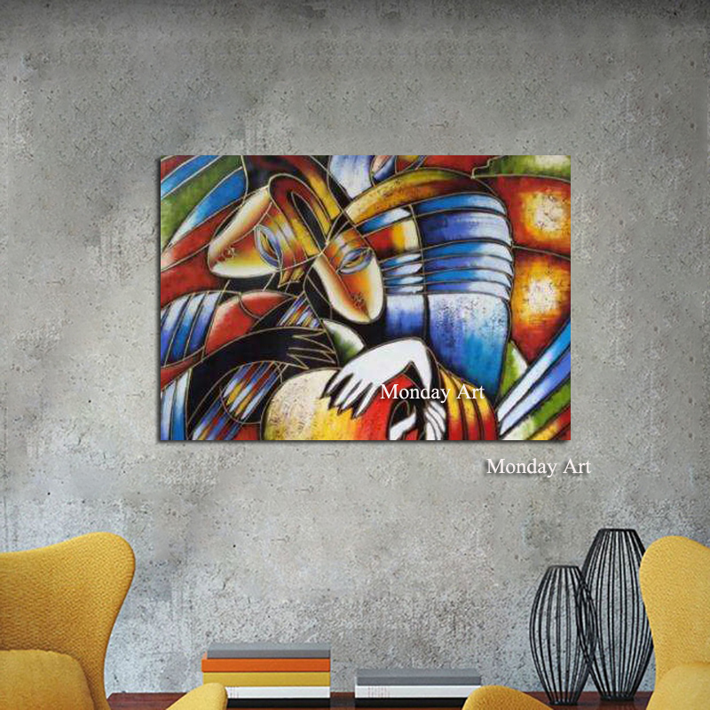 Modern Canvas Painting Abstract Art Decor Oil Painting on Canvas Wall Art Picture Home Decor Living Room Impressionism Paintings in Painting Calligraphy from Home Garden