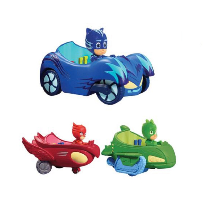PJ Cartoo Car Toy Les Pyjamasques Connor Greg Amaya PVC Action Figure Model Juguetes Creative Toy Mask Gift pj cartoon pj masks command center car parking toy lot car characters catboy owlette gekko masked figure toys kids party gift