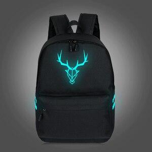 Image 4 - 2019 School Backpacks For Teenage Boy Girls Luminous Cartoon Bag Schoolbag Bag For Teenagers Student Cute Cat Backpack to School