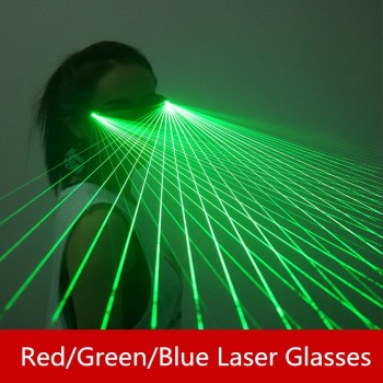 Red/Green/Blue Laser Glasses Performance glasses Laser dance performance props Creative stage props